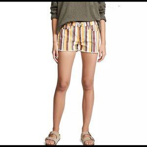 NWT Frame Le Cutoff Denim Shorts Stripe SZ 25